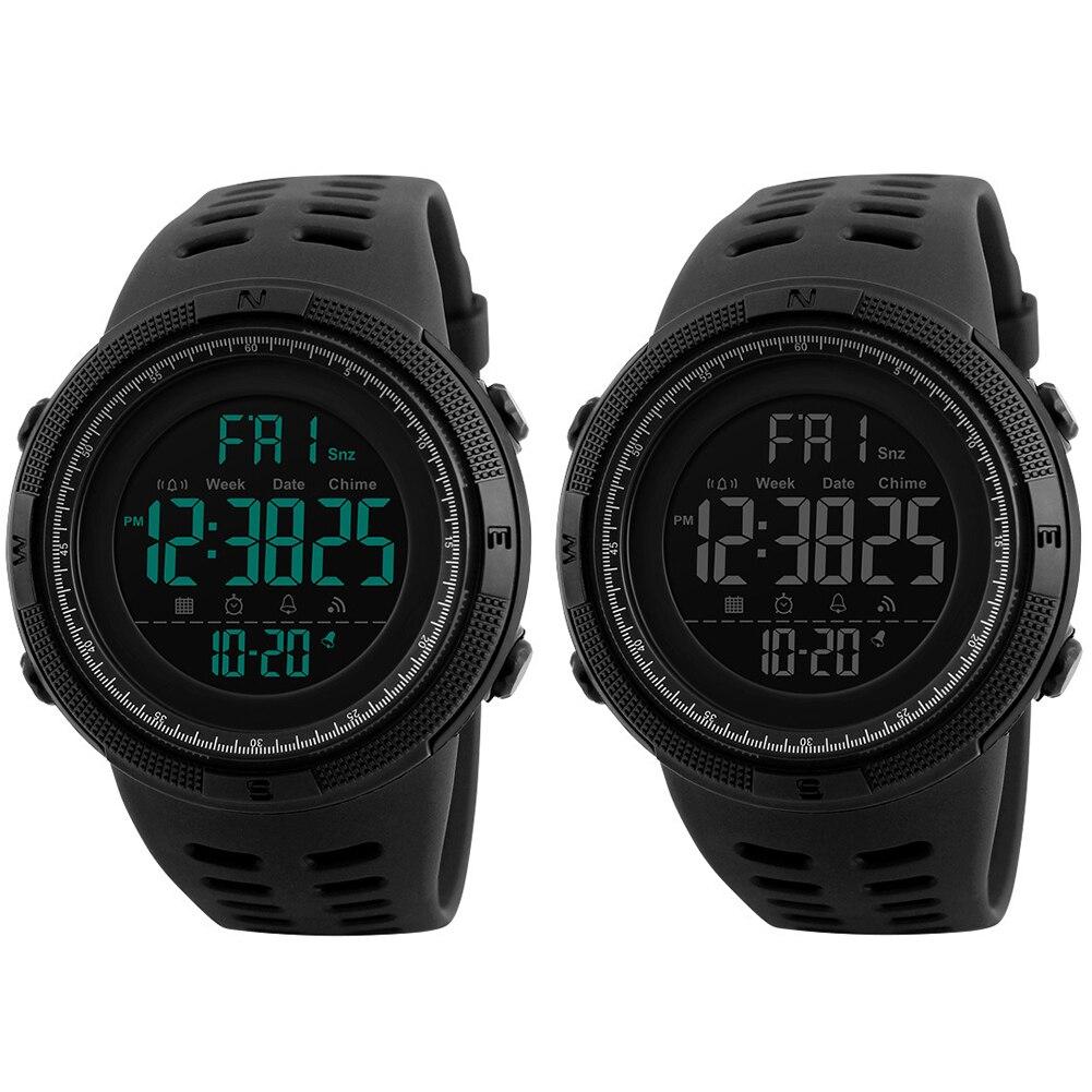 Novos Homens Moda Relógio Despertador Display Digital Calendário À Prova D' Água Esportes Relógio de Pulso banda de Silicone relogio inteligente