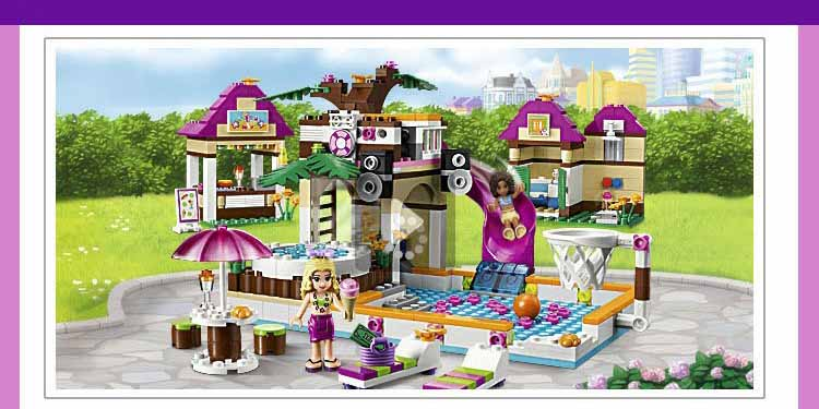 mylb 10160 Building Blocks Friends Heartlake City Pool Construction Educational Brick Toys for Girls Compatible with  bricks 2017 hot sale girls city dream house building brick blocks sets gift toys for children compatible with lepine friends