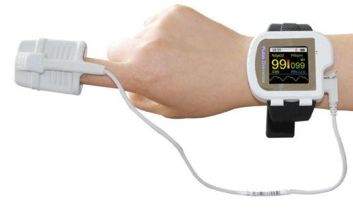 new arrival Watch style pulse oximeter With display  PR PI SpO2 value pulse oxygen saturation with oximeter probe CMS50I микроволновая печь свч midea em 720 cke