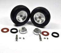 1 Set Of 3.5 Left and Right High Quality RC Rubber Wheel With Brake Axle For Airplane Viper Brake System