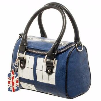 Doctor Who Bag TARDIS Mini Satchel and Metal Charm Keychain Shoulder Handbag Handbag Lady Bag  shoulder bag