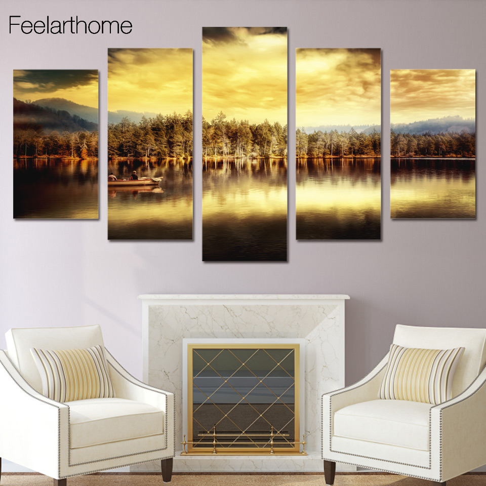 Hd Printed Natural Lake Painting Children S Room Decor Print Poster Picture Canvas Free Shipping Ny