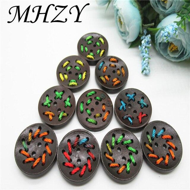 10/20/30PCS tamaño café negro, protección del medio ambiente mano roscado hebilla madera DIY coser botones de accesorios de prendas de K72