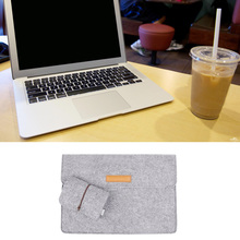 Besegad Felt Carrying Laptop Envelope Case Bag Sleeve for Macbook Air Pro Retina 12 13.3 15 inch w/ Charger Magic Mouse Bag