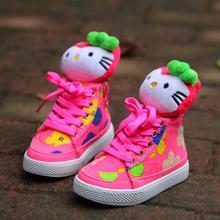2016 Зимняя мода детская обувь симпатичные KT cat девушки обувь для детей кроссовки спортивные хлопка мягкой обуви девушки сапоги случайные