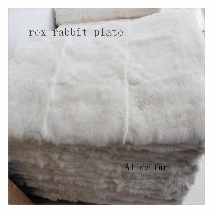 Couverture blanche naturelle de peau de fourrure de lapin de rex de couleur/plat chaud doux de tapis de matelas de fourrure