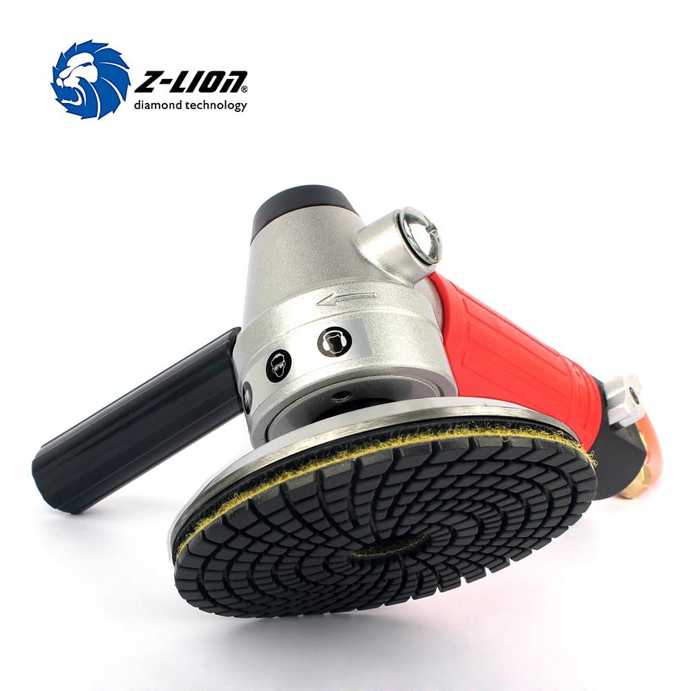 Z-LION 1 Piece Air Wet Polisher M14 Thread Pneumatic Air Tool Air Sander Pneumatic Polisher With 1 Piece Aluminium Backer Pad 4 zfe m14 converts polisher pad backing plate to 5 16 da polish thread for air sander