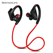 Betreasure BH08 Sport Wireless Earphone Ear Hook Bluetooth Earphones Handsfree Stereo Music Headset With Mic For Android IOS