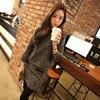 DoreenBow Wool Cotton New Women Fashion Dress Autumn Winter O Neck Long Sleeve Vintage Pocket Mini