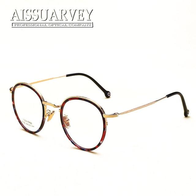 d17bb8ddb9 Fashion Round Metal Eyeglasses Vintage Classic Glasses Frame Optical  Eyewear Prescription Light Women Men Fashion Myopia Goggles