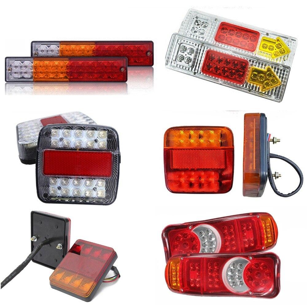 Truck Light System Hard-Working 12v 24v Rear Tail Light 20 Leds Taillight Reversing Running Brake Turn Signal Lamp Indicator For Trailer Truck Caravan 1pc Atv,rv,boat & Other Vehicle