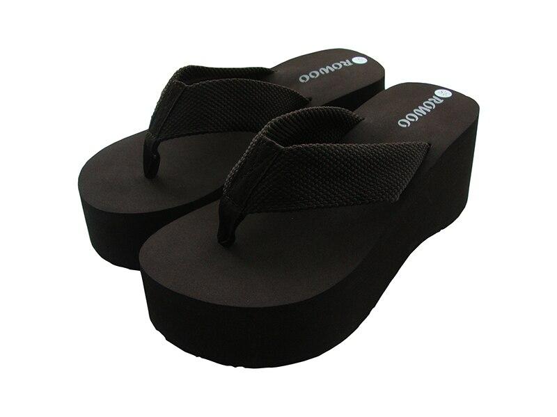 f908b228ca US $32.11 49% OFF Fashion Ladies Summer Flip Flops 3 Inch Platform Wide  Sole EVA Summer Bride Sexy Sandals Women Shoes Flip Flops Female  Slippers-in ...