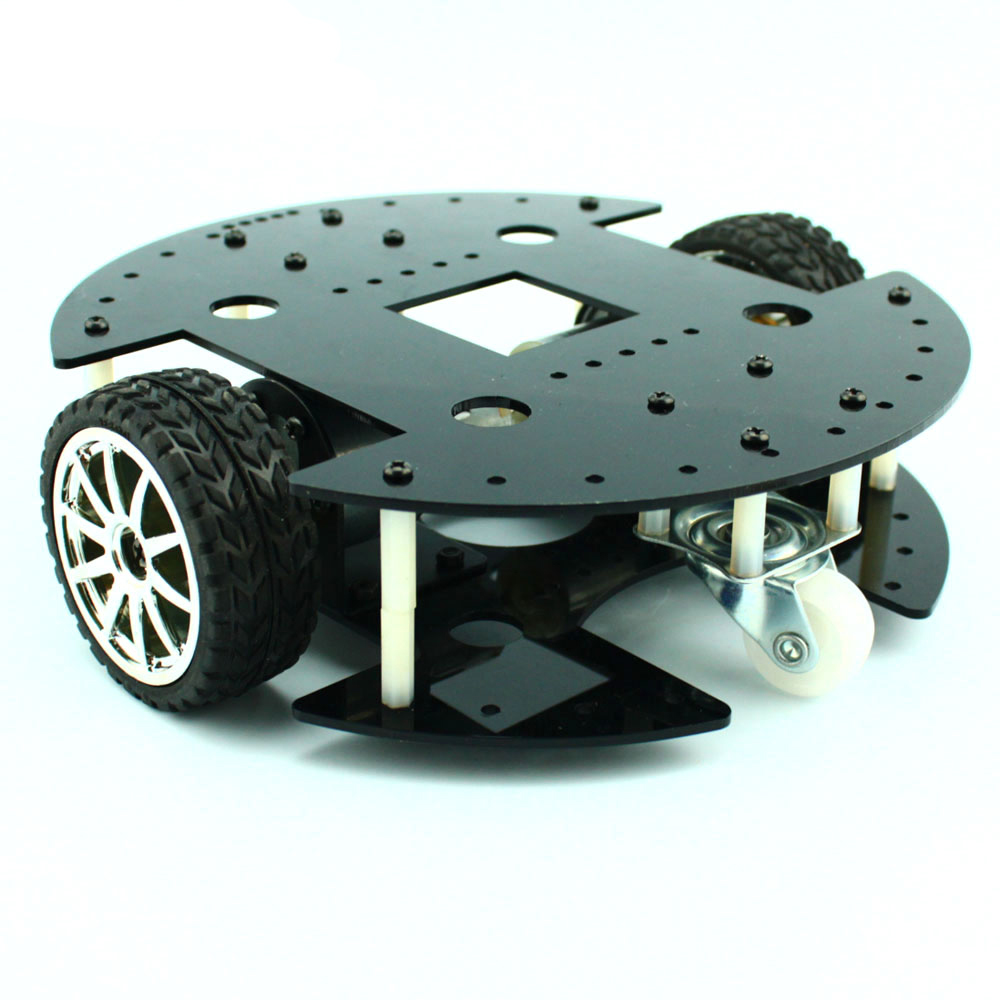 Two-drive type 37B280 intelligent car/37GB geared motor/robot chassis model/DIY toy accessories technology model parts 2 wheel drive robot chassis kit 1 deck