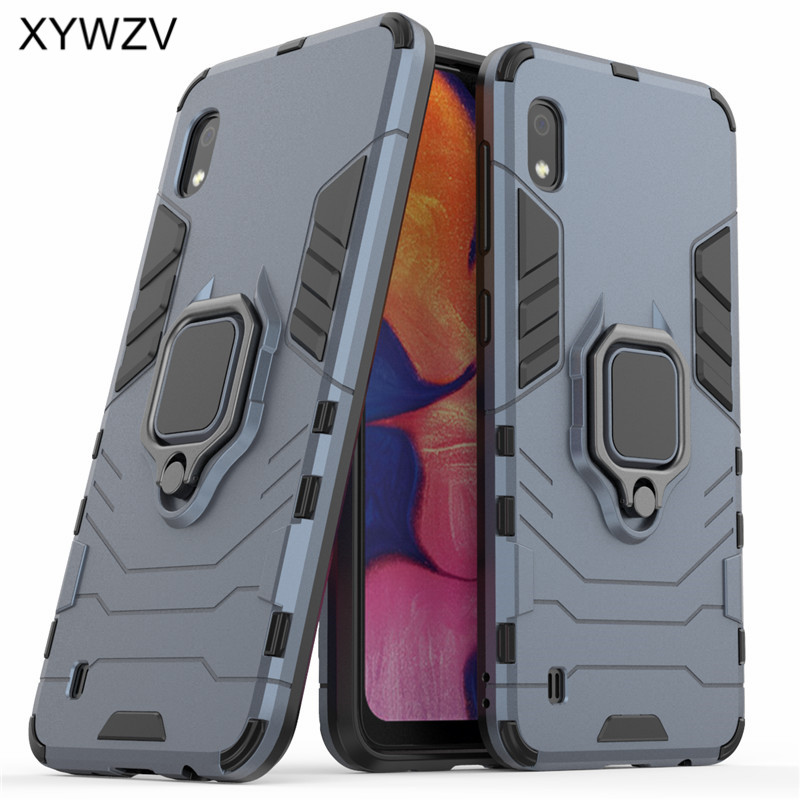 Image 2 - For Samsung Galaxy A10 Case Shockproof Armor Metal Finger Ring Holder Phone Case For Samsung Galaxy A10 Cover For Samsung A10-in Fitted Cases from Cellphones & Telecommunications