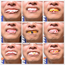 1pcs Halloween Corpse Zombies Simulation False Teeth Action & Toy Figures Boy Girl Children Holiday Gift Funny Frightening(China)