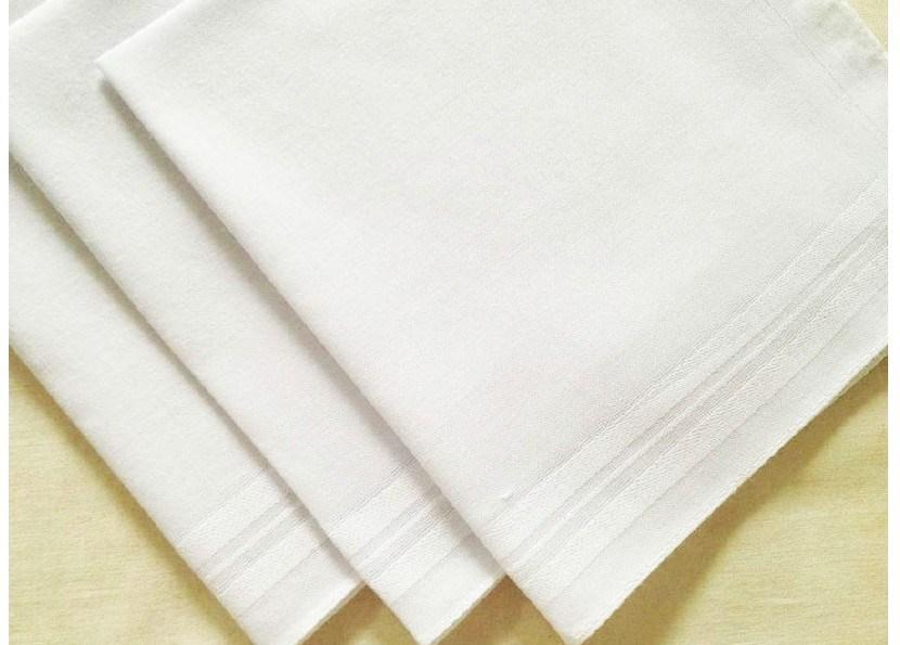 50-100 PCS White Plain Pattern Solid Handkerchief 100/% Cotton Made In Korea