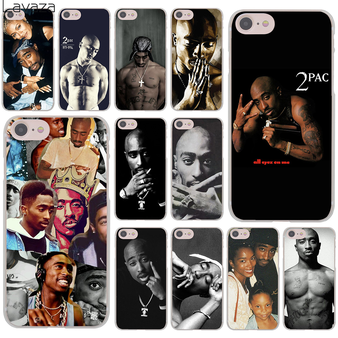 Lavaza 2Pac Tupac Amaru Shakur Makaveli 8Plus Hard Phone Cover Case for iPhone XR X 11 Pro XS Max 8 7 6 6S 5 5S SE 4S 4 10
