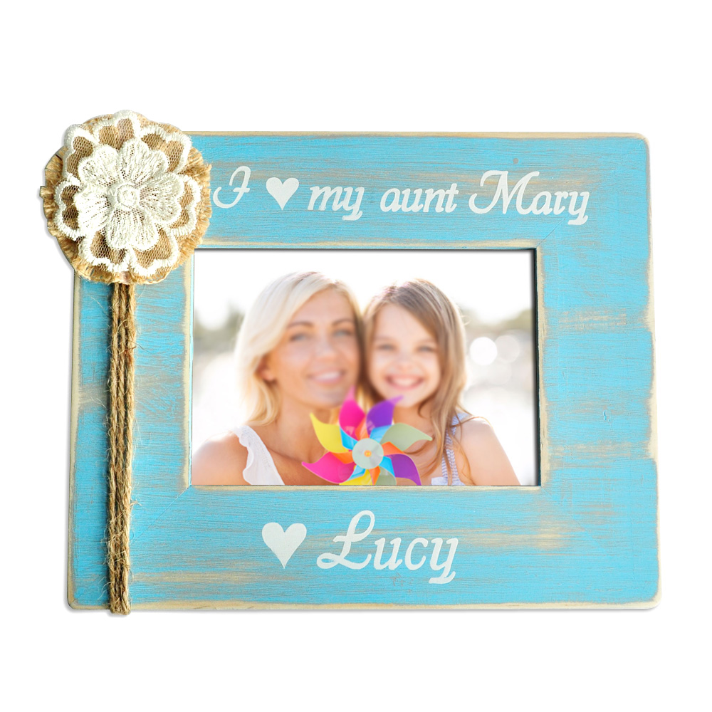 Personalized Aunt Photo Frame,Auntie Picture Frame,Wood Photo Frame ...