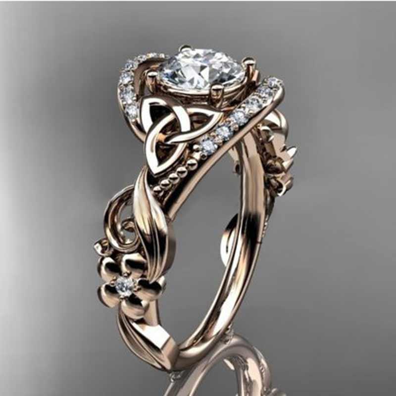 HUITAN обручальное кольцо для женщин, официальное предложение, цветочное кольцо в форме листа, высокое качество, обручальные кольца с уникальным дизайном|Обручальные кольца|   | АлиЭкспресс