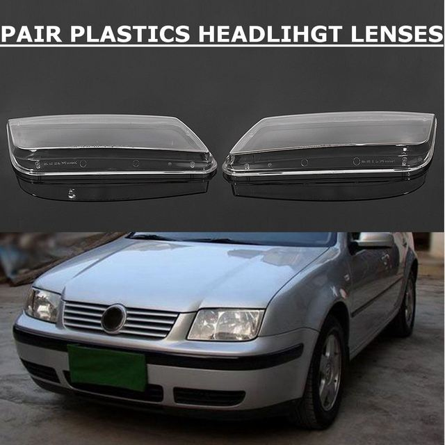 2pcs Left Right Car Headlight Lens Cover Replacement Head Lamp Covers For Vw Jetta Bora Mk4 1999 2000 2001 2002 2003 2004 2005