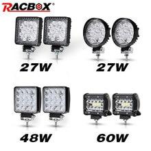 Projecteur de travail LED à large faisceau, 2 pièces, lampe LED tout terrain Bar, pour Jeep ATV UAZ SUV 4WD 4x4, 12V