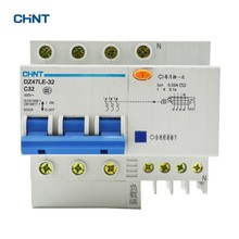 цена на CHINT 32A Earth Leakage Circuit Breaker Elcb DZ47LE-32 3P N C32