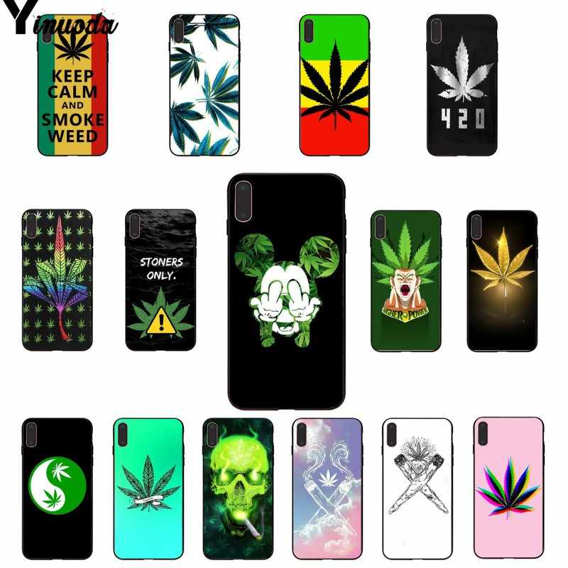 Yinuoda Astrattismo Art di alta weed Colorato Carino Accessori Del Telefono di Caso per il iphone di Apple 8 7 6 6S Plus X XS MAX 5 5S SE XR