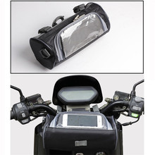 waterproof motorbike tool bags black scooter head bag dirt pit bike saddlebag part motorcycle Phone Holder Mobile Stand moto