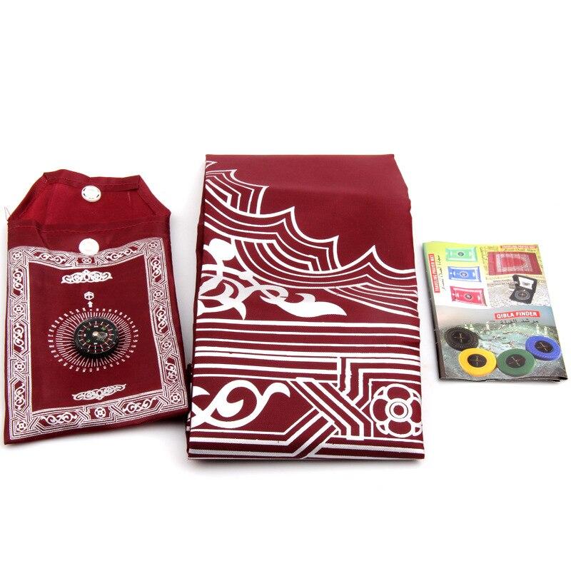 Image 3 - Portable Islamic Muslim prayer carpet rug Islamic Arab Ramadan compass prayer matmat matmat rugmat carpet