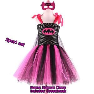 Image 3 - Superman Batman tutu rok voor meisjes jurk met masker superheld stijl Kids kostuum kinderen Cosplay Kerstmis Halloween tutu jurk