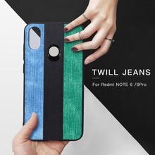 MOFI оригинальный джинсы полотняные чехол для телефона для Xiaomi Redmi Note 6 Pro мягкая задняя крышка корпуса Винтаж черный зеленый синий силиконовый чехол