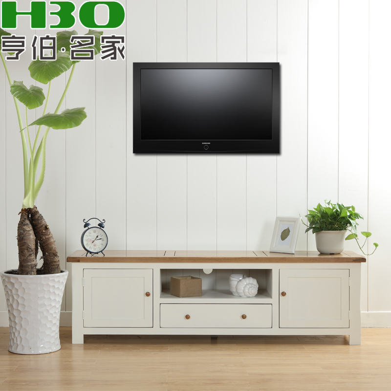 Solid wood furniture living room tv cabinet wood tv - White wooden living room furniture ...