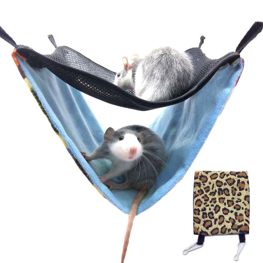 font b Pet b font Hammocks Hanging Bed Nest Hamster Hammock Double Layer Breathable Mesh