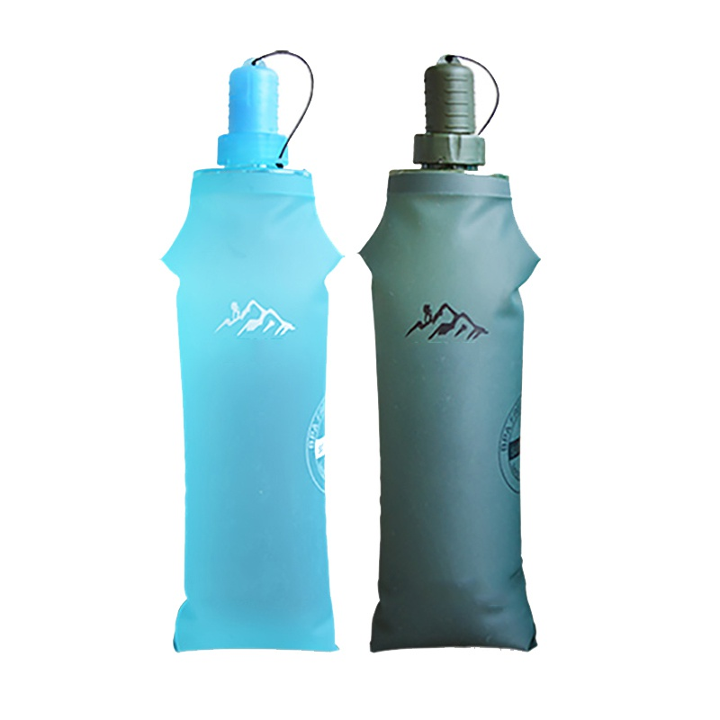 250  ML Travel Drink Water Bottle Camping Folding Foldable Collapsible Bag
