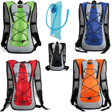 Water Bag Tank Backpack Hiking Motorcross Riding Backpack with 2L Water Bag Hydration Bladder Camelback