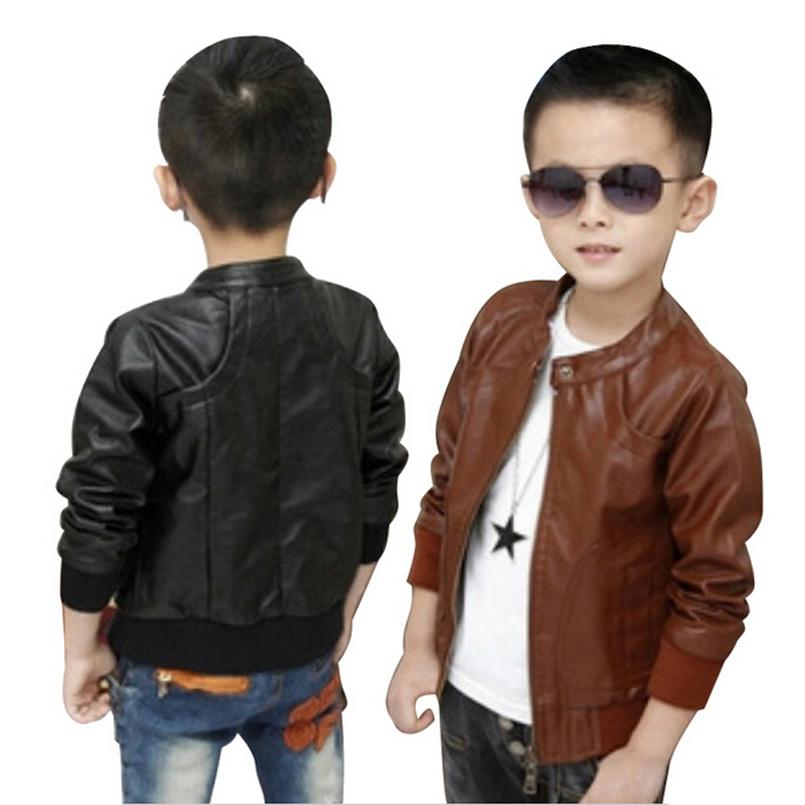 2016 Brand Kids Jacket And Coats Boys Coats Faux Leather Jackets