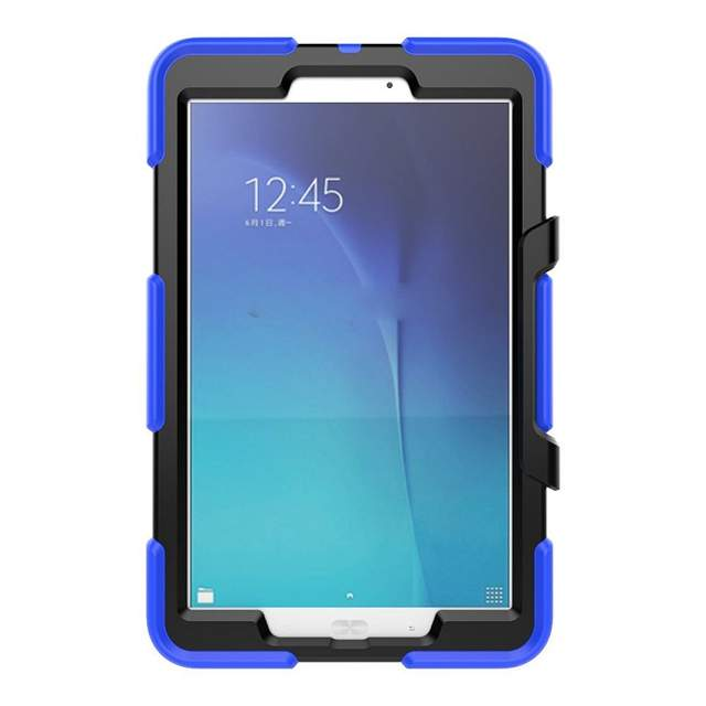 9350ca1ee Caso Capa de Silicone Para Samsung Galaxy Tab E 9.6 polegada T561 Robusto  Com Kick Stand