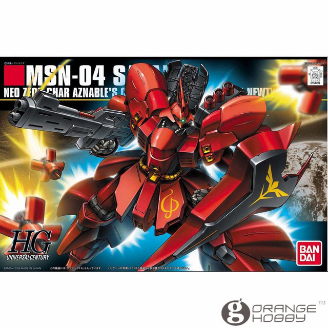 Bandai hguc 088 1/144 msn-04 sazabi ohs mobile suit kits modelo de montagem