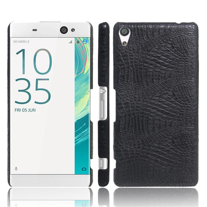 For Sony Xperia XA F3111 F3113 F3115 Case Luxury Crocodile Skin Cover For Sony XA Dual F3112 5.0inch Phone Bag Case Glass film