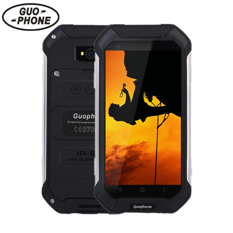 4 5 GuoPhone V19 Phone With IP68 MTK6580 Android 6 0 3G GPS 2GBRAM 16GBROM 4
