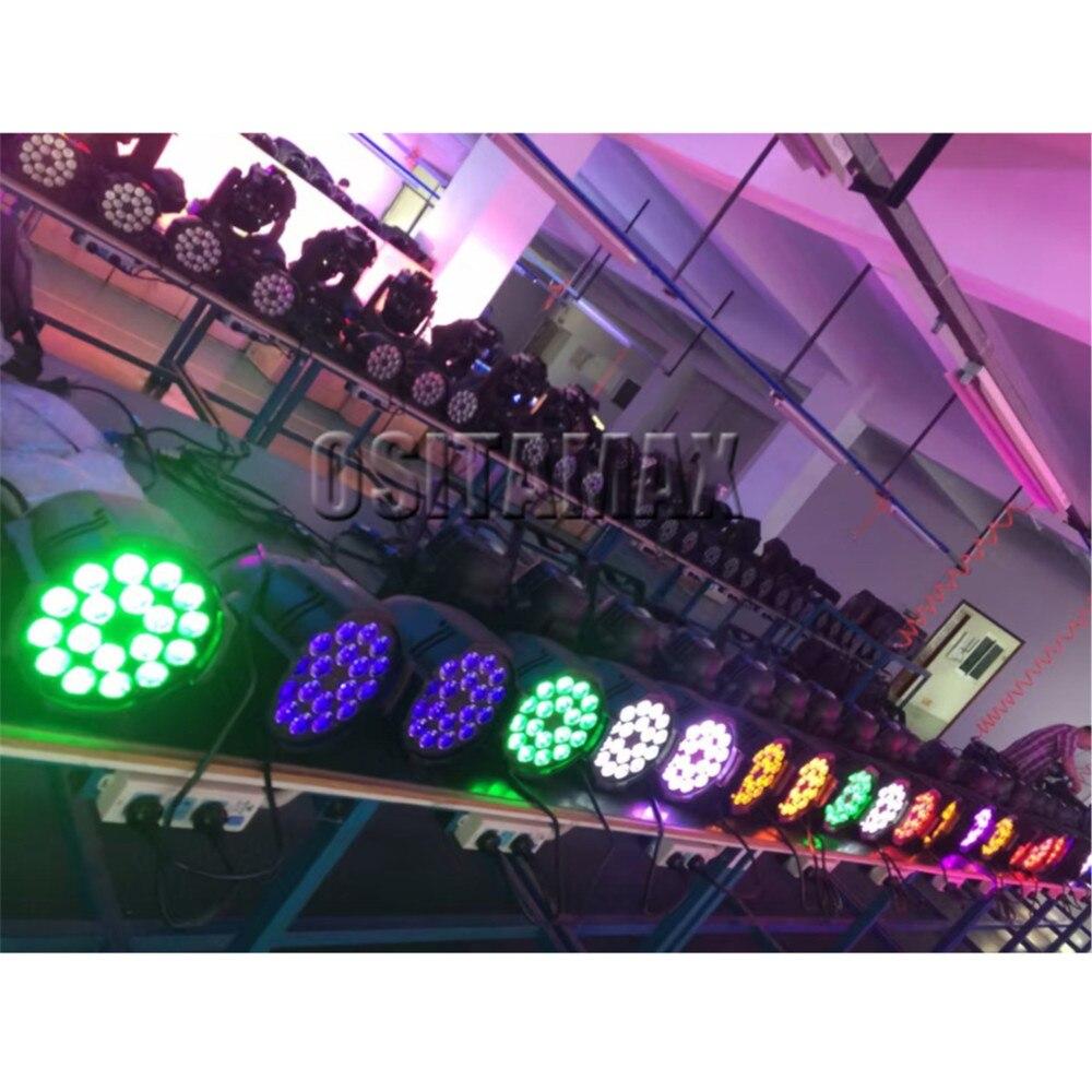 4 pçs/lote 18x15w rgbwa interior IP33 latas par led dmx par can iluminação 18x15w led dmx par 64 18x15w latas par dj levou luz de discoteca par - 6