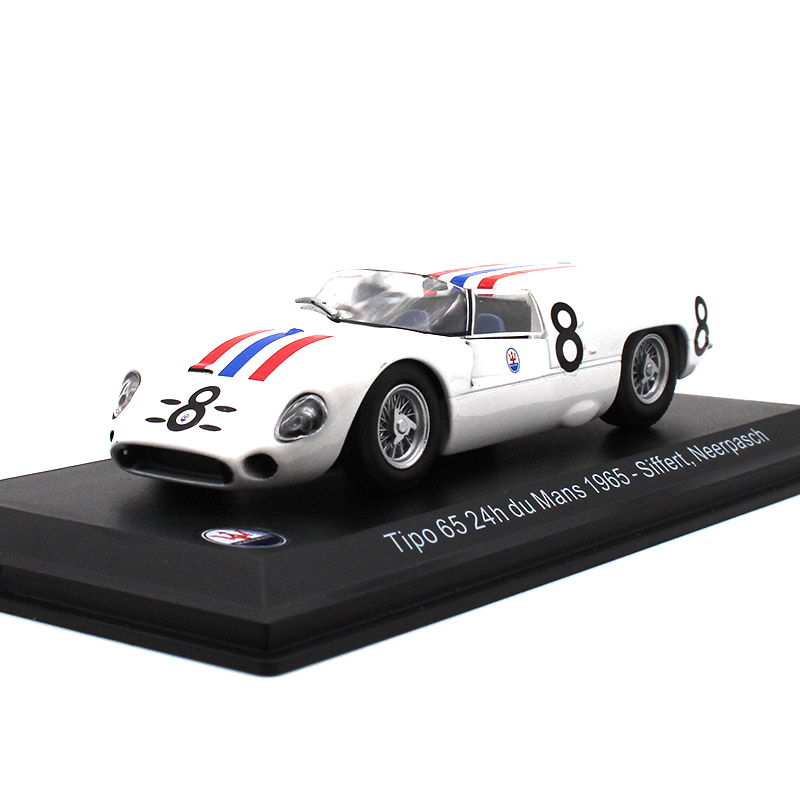 LEO 1:43 Alloy Car Model Maserati 1965 Siffert Neerpasch Collection Decoration Kids Toys Gifts For Children