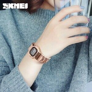 Image 4 - SKMEI Marke frauen Uhr Luxus Sport Digitale Frauen Uhr Armband Wasserdichte Stoppuhr Countdown Damen Kleid Handgelenk Uhren