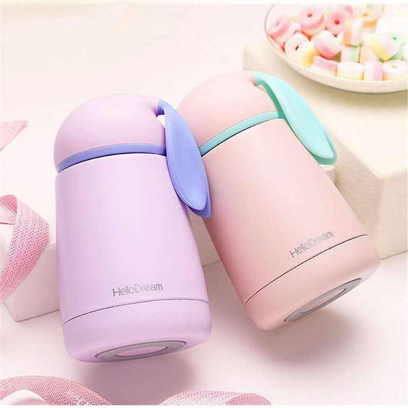 300ml Cartoon Thermos Kids Cup thermal bottle Stainless Steel Thermocup Vacuum Flask Termos children belly mug mini Thermoses