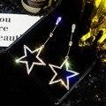 Хит продаж, серьги-подвески с кристаллами в форме сердца, звезды, короны для женщин, серьги с длинными кисточками, большие модные ювелирные и...