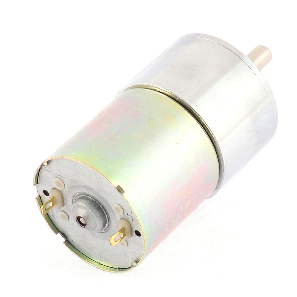 UXCELL DC 24V 0.33A 11.3kg.cm 120RPM Speed Reducing Geared Motor with 6mm Diameter Shaft and 2 Pole Connectors zndiy bry 16ga 120 dc 12v 120rpm geared motor silver