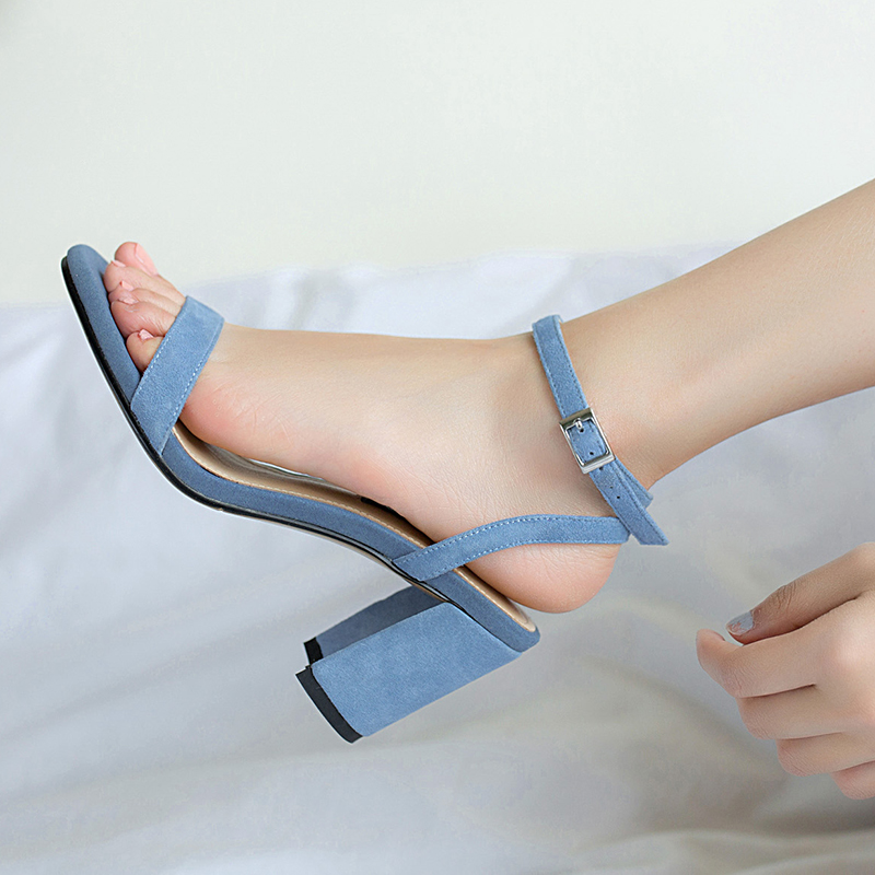 HTB1uJD9R9zqK1RjSZFHq6z3CpXaY ORATEE Fashion Ankle Strap Women Casual Sandals Open Toe Summer High Heel Shoes Buckle Ladies Office Work Sandalias Shoes