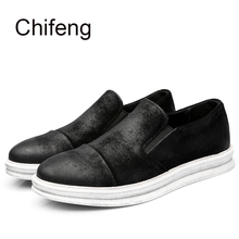 Men's casual Genuine Leather shoes   2017  new spring autumn  British style fashion Solid color Daily men shoes