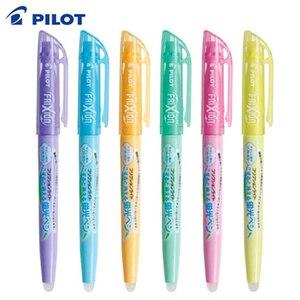 Image 1 - 6Pcs Pilot FriXion Licht Löschbaren Highlighter leuchtstoff stift SFL 10SL 6 Weiche Farbe Tinte Schreiben Liefert