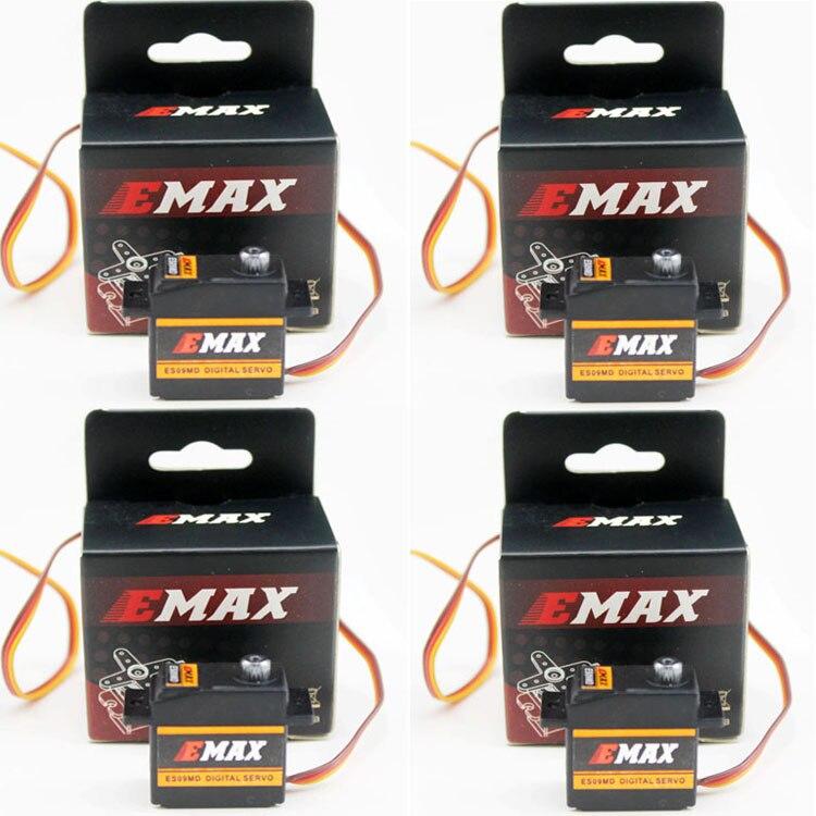 4 set/lot EMAX ES09MD Dual-rodamiento especial Swash Metal Digital Servo para TREX Align 450 helicóptero (es08ma es08md es08a)